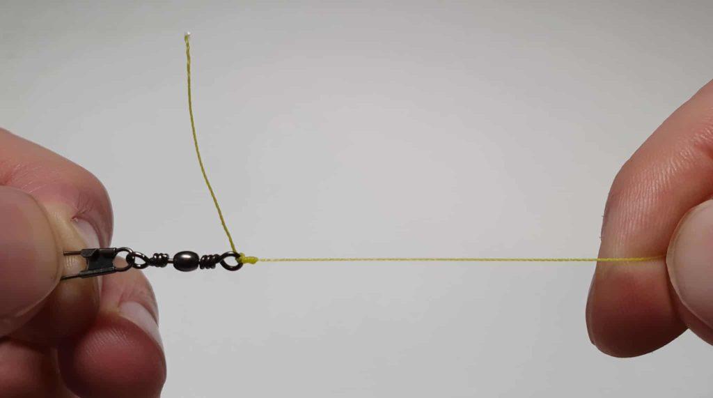 Clinch-Knoten mit Doppelschlaufe - Schritt 7