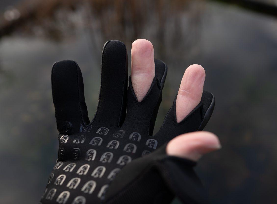 Angelhandschuhe Test - Finger können bei Bedarf freigelegt werden
