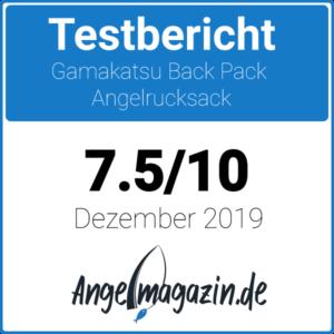 Gamakatsu Back Pack Angelrucksack Testsiegel