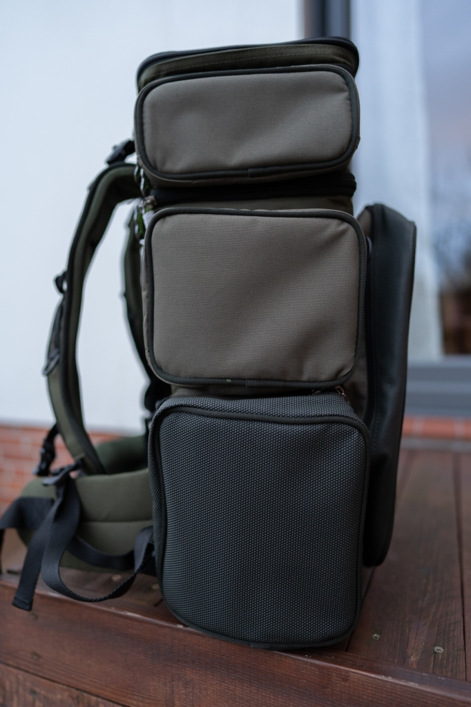 Greys Prodigy Tackle Base Angelrucksack - Seitentaschen