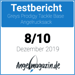 Greys Prodigy Tackle Base Angelrucksack Testsiegel
