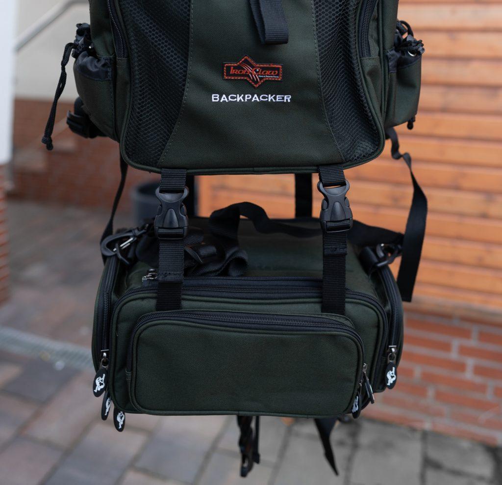 Iron Claw Backpacker Angelrucksack - Platz für eine Jacke oder ein Zelt