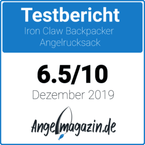 Iron Claw Backpacker Angelrucksack Testsiegel