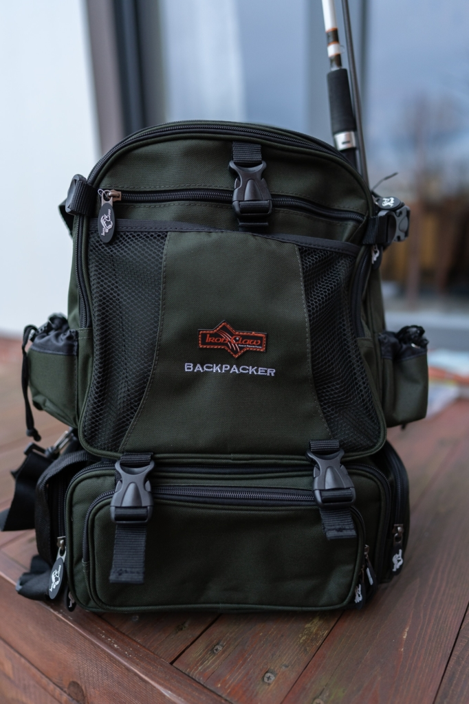 Iron Claw Backpacker Angelrucksack - Viel Stauraum durch viele Taschen