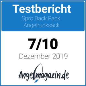 Spro Back Pack Angelrucksack Testsiegel