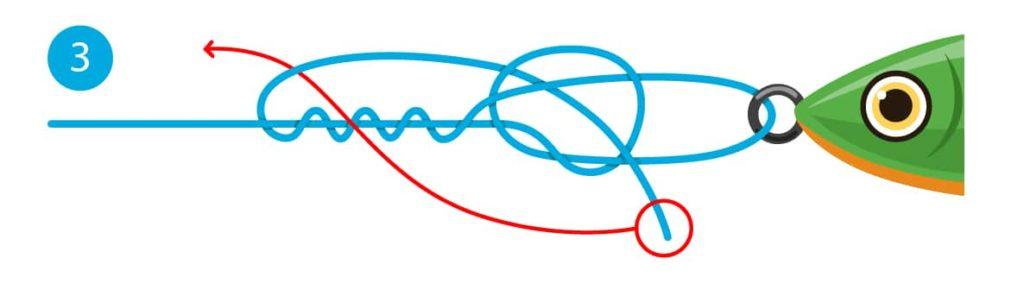Rapala-Knoten - Schritt 3