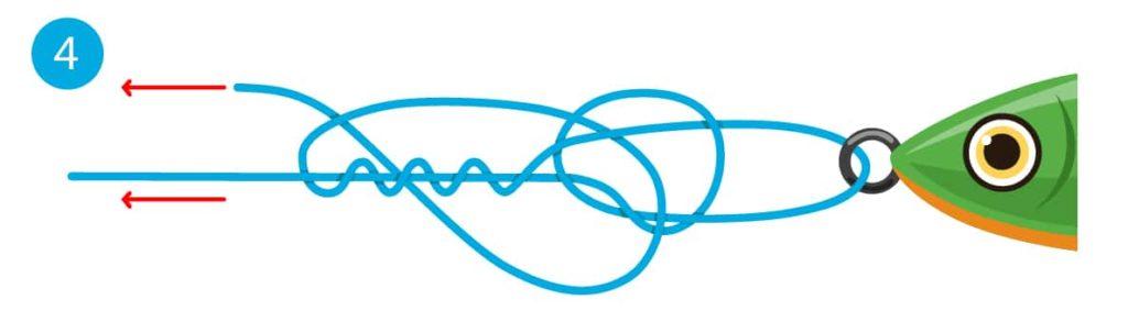 Rapala-Knoten - Schritt 4