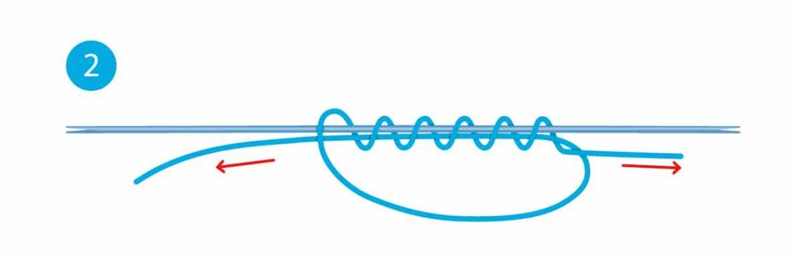 Stopper-Knoten - Schritt 2