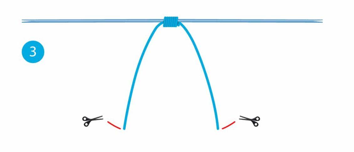 Stopper-Knoten - Schritt 3