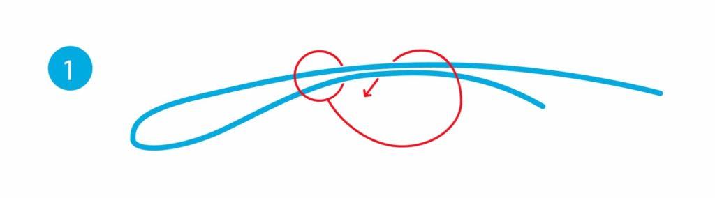 Schlaufenknoten - Schritt 1