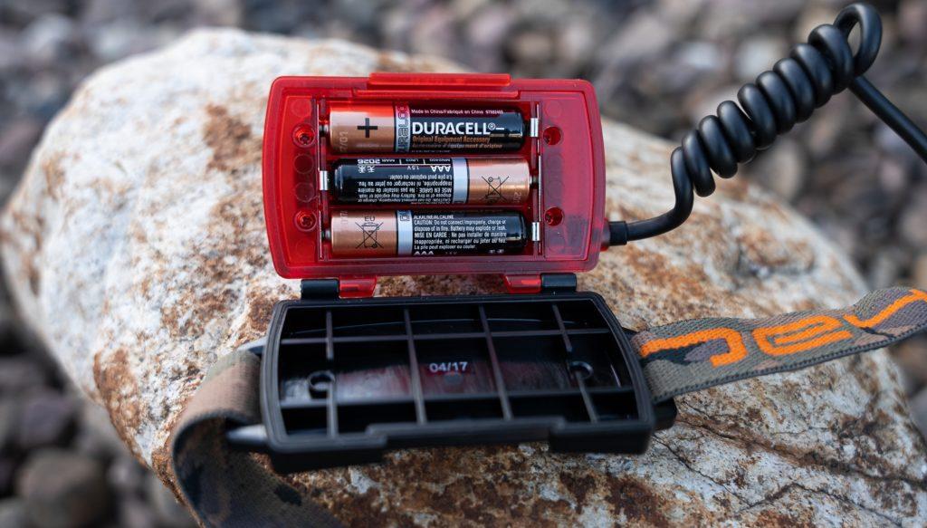 Fox Halo MS250 Stirnlampe - Batteriefach hinten