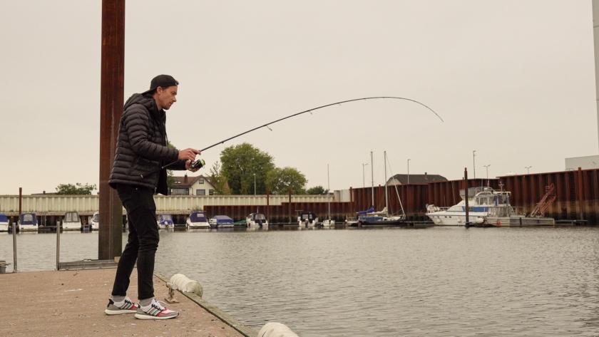 Bullseye Jig Whip Rutenaktion selbst bei kleinen Fischen sehr gut